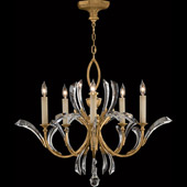 Crystal Beveled Arcs Gold Chandelier - Fine Art Lamps 763040ST