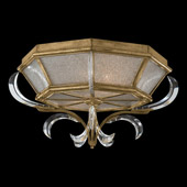 Crystal Beveled Arcs Gold Flush Mount Ceiling Fixture - Fine Art Lamps 767640ST