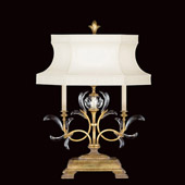 Crystal Beveled Arcs Gold Table Lamp - Fine Art Lamps 769110ST