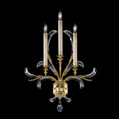Crystal Beveled Arcs Gold Wall Sconce - Fine Art Lamps 769650ST