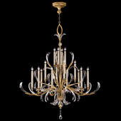 Crystal Beveled Arcs Gold Large Chandelier - Fine Art Lamps 770040ST