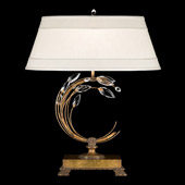 Crystal Crystal Laurel Gold Right Facing Table Lamp - Fine Art Lamps 773210ST