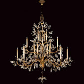 Crystal Crystal Laurel Gold Grand Chandelier - Fine Art Lamps 774540