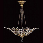 Crystal Crystal Laurel Gold Inverted Pendant - Fine Art Lamps 776340