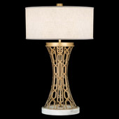 Contemporary Allegretto Gold Table Lamp - Fine Art Handcrafted Lighting 784910-2