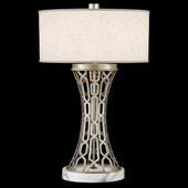 Contemporary Allegretto Silver Table Lamp - Fine Art Handcrafted Lighting 784910