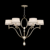 Contemporary Allegretto Silver Chandelier - Fine Art Handcrafted Lighting 785840