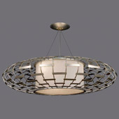 Contemporary Allegretto Silver Pendant - Fine Art Handcrafted Lighting 798640