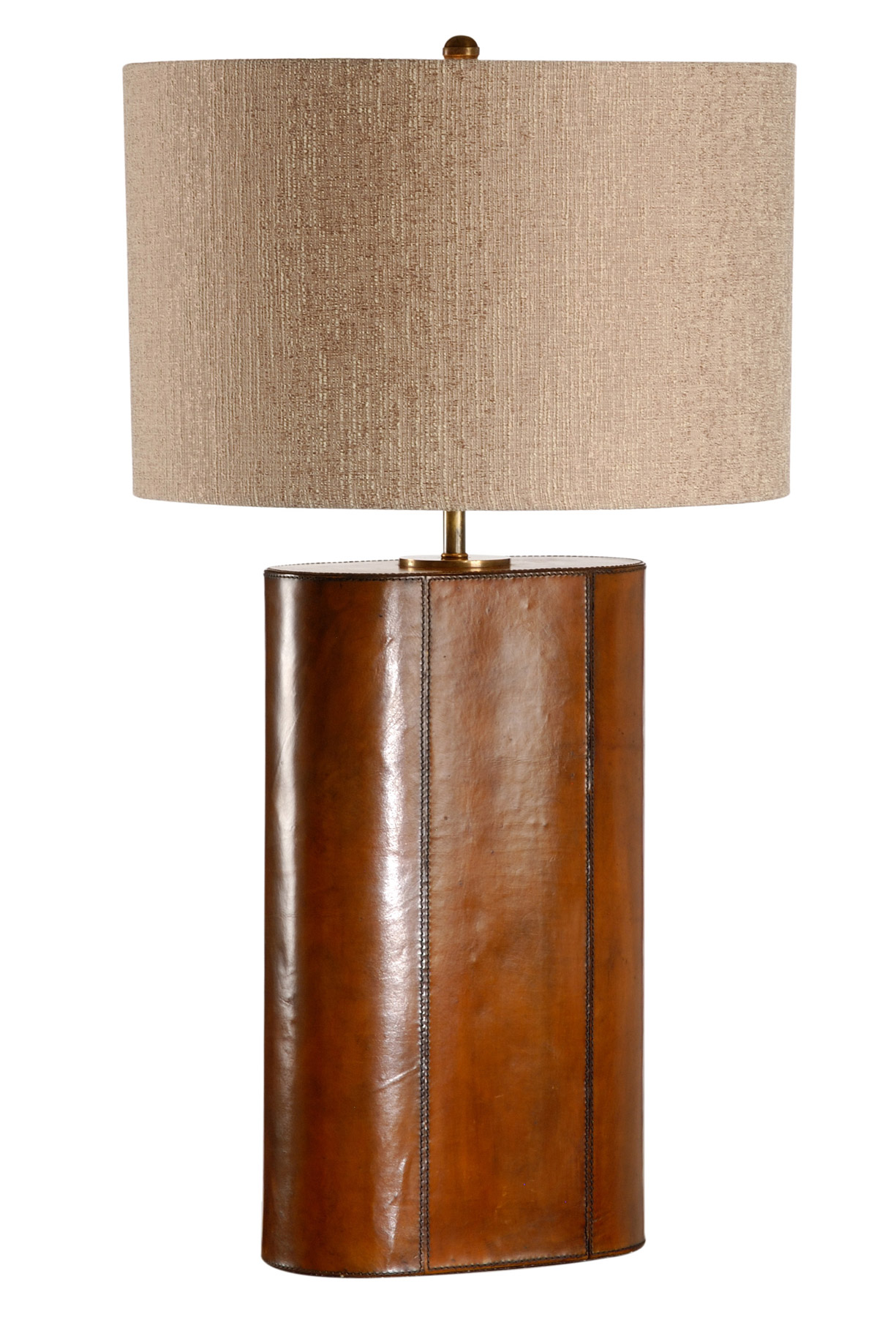 Cooper 65347 Stitched Leather Oval Base Table Lamp