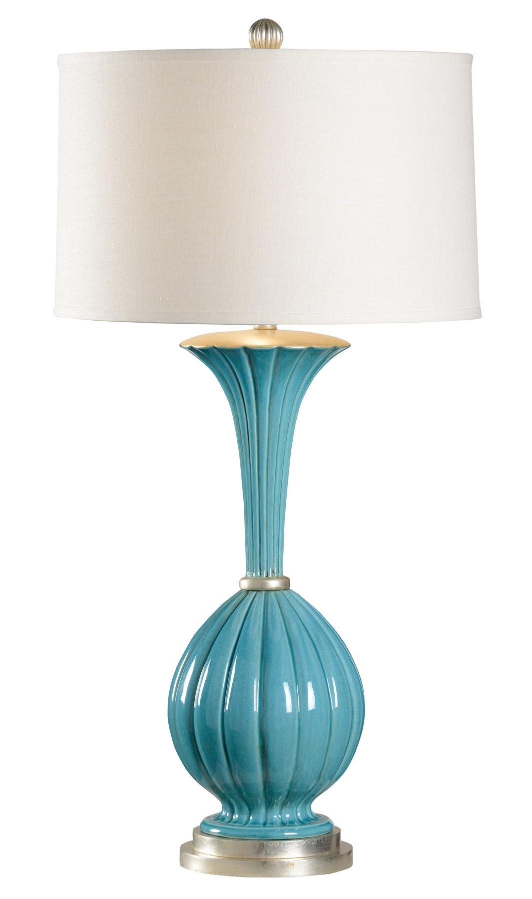 frederick cooper medici aqua table lamp