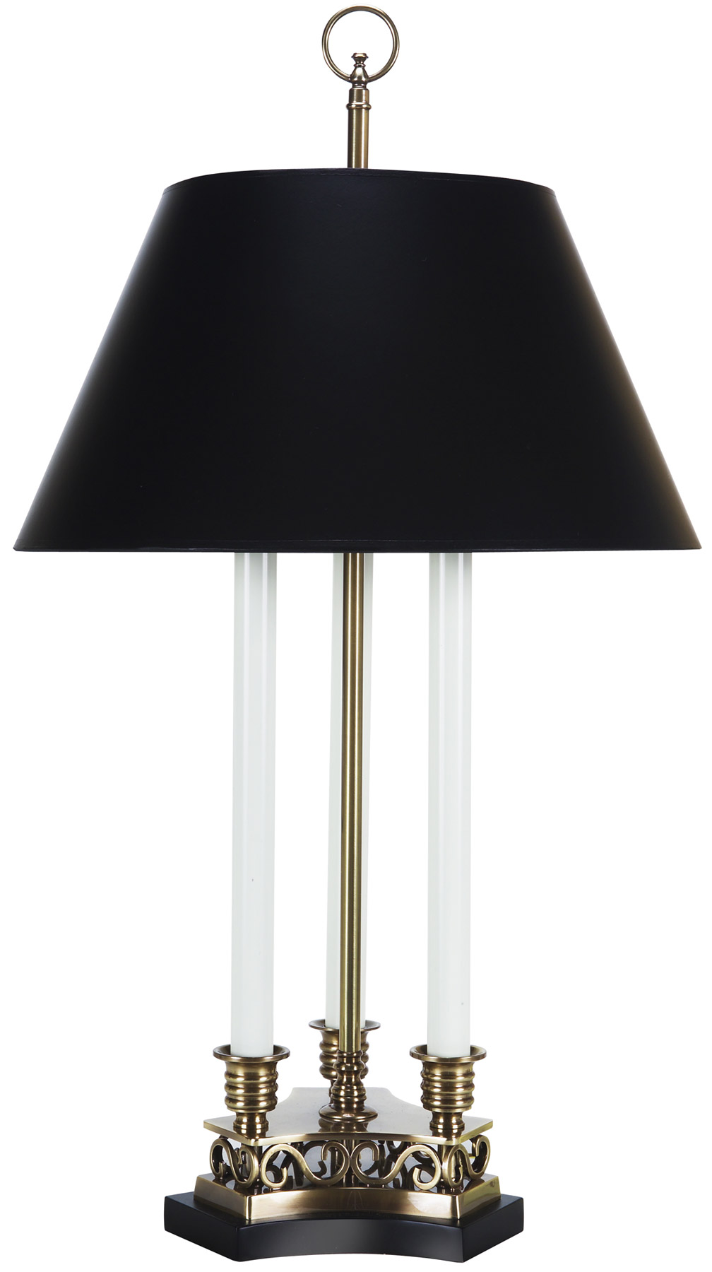 Frederick Cooper 65046 Brass Triple Candlestick Table Lamp