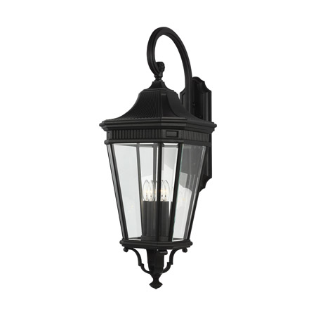 Feiss OL5405BK Cotswold Lane 4 - Light Outdoor Wall Lantern