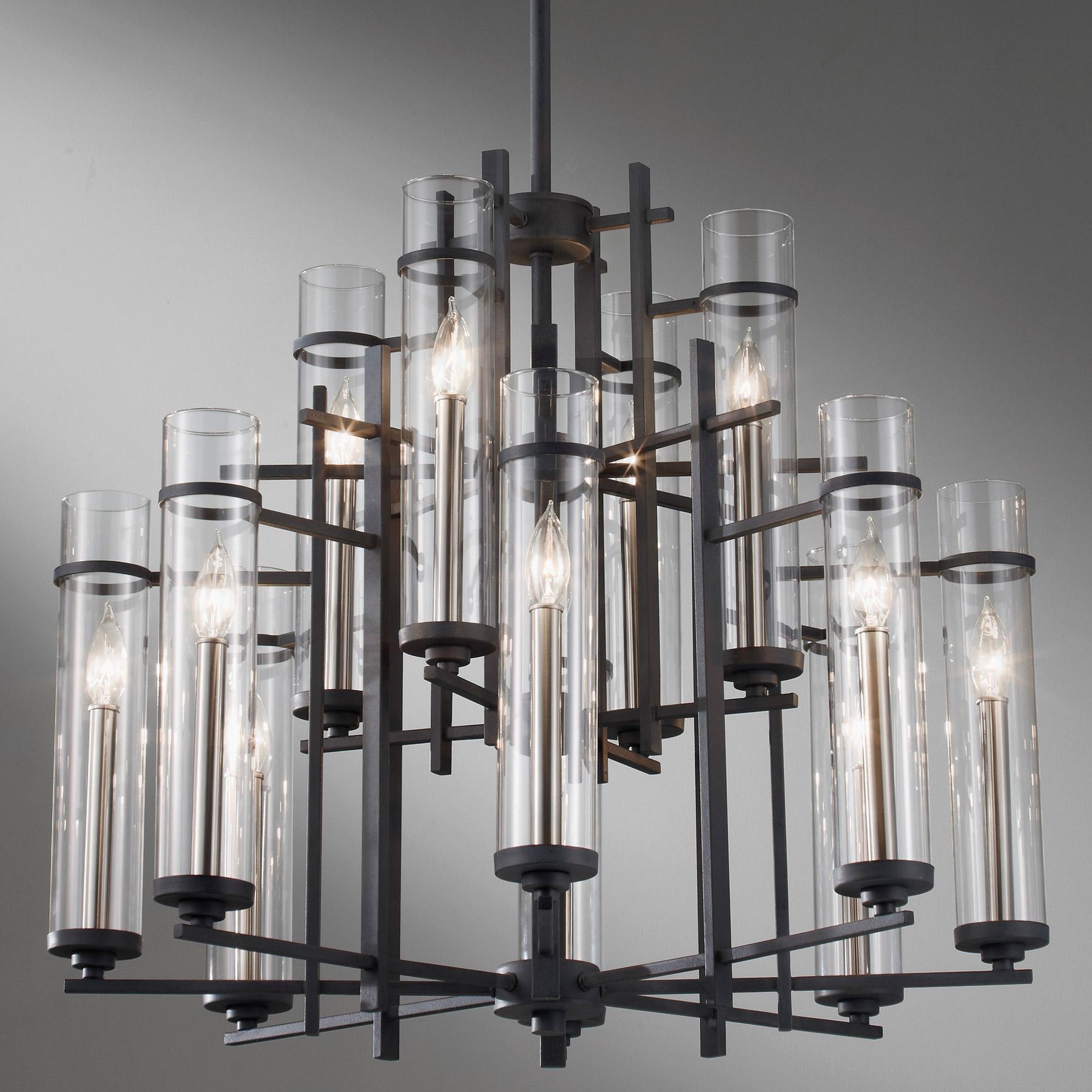 Feiss f262984afbs ethan twelve light chandelier aloadofball Choice Image
