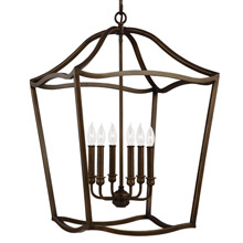 Feiss F2976/6PAGB Yarmouth 6 - Light Foyer