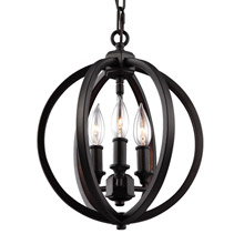 Feiss F3059/3ORB Corinne 3 - Light Globe Pendant