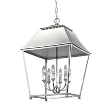 Feiss F3090/6PN Galloway 6 - Light Foyer Pendant