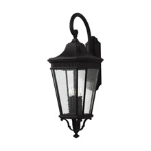 Feiss OL5426BK Cotswold Lane 4 - Light Outdoor Wall Lantern