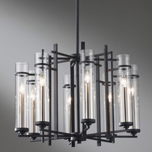Feiss F2628/8AF/BS Ethan Eight Light Chandelier
