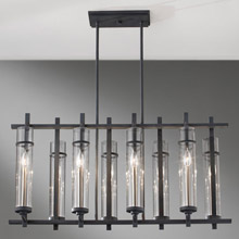 Feiss F2630/8AF/BS Ethan Eight Light Linear Chandelier
