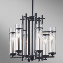 Feiss F2631/6AF/BS Ethan Six Light Mini Chandelier