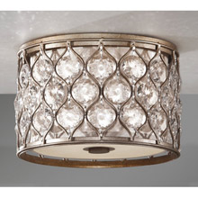 Feiss FM355BUS Crystal Lucia Flush Mount Ceiling Fixture