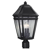 Transitional Londontowne 3 - Light Outdoor Post - Feiss OL11308BK