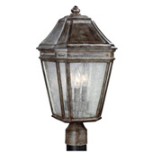 Transitional Londontowne 3 - Light Outdoor Post - Feiss OL11308WCT