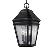Transitional Londontowne 3 - Light Outdoor Pendant - Feiss OL11309BK