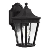 Traditional Cotswold Lane 1 - Light Outdoor Wall Lantern - Feiss OL5420BK