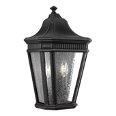 Traditional Cotswold Lane 2 - Light Outdoor Wall Lantern - Feiss OL5423BK