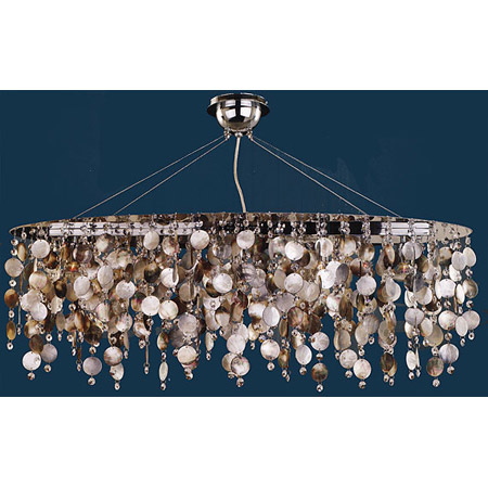 Glow Lighting 582sd5lsp 3c Crystal Midnight Pearl Oval