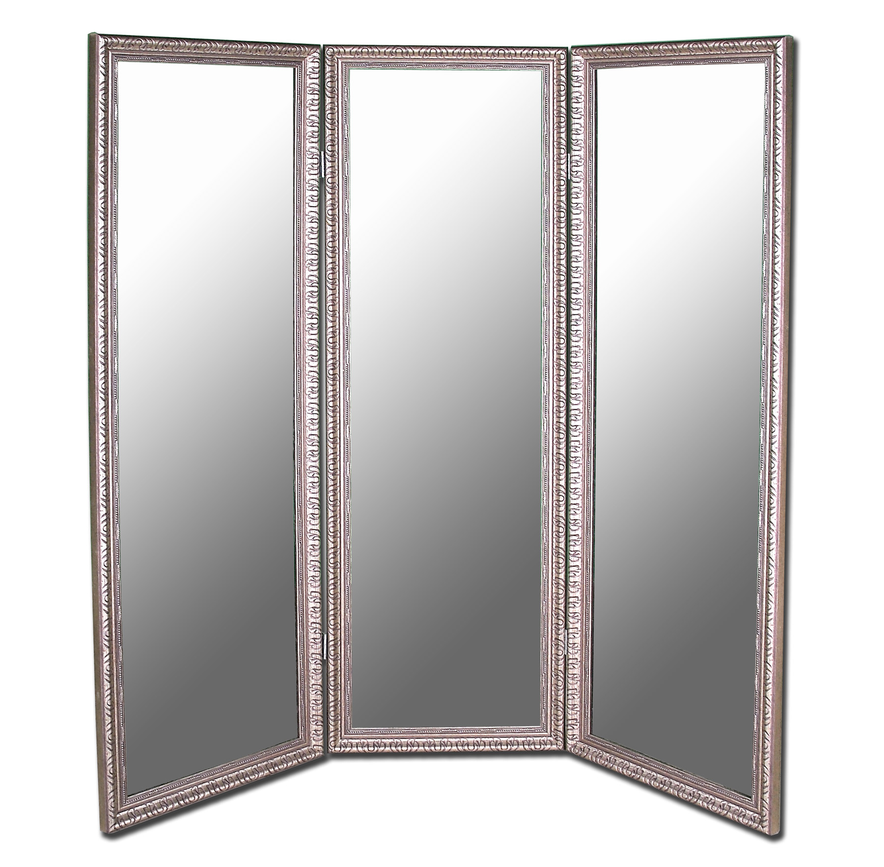 Hitchcock Butterfield 6702 Pmrd Antique Silver 3 Panel Mirror