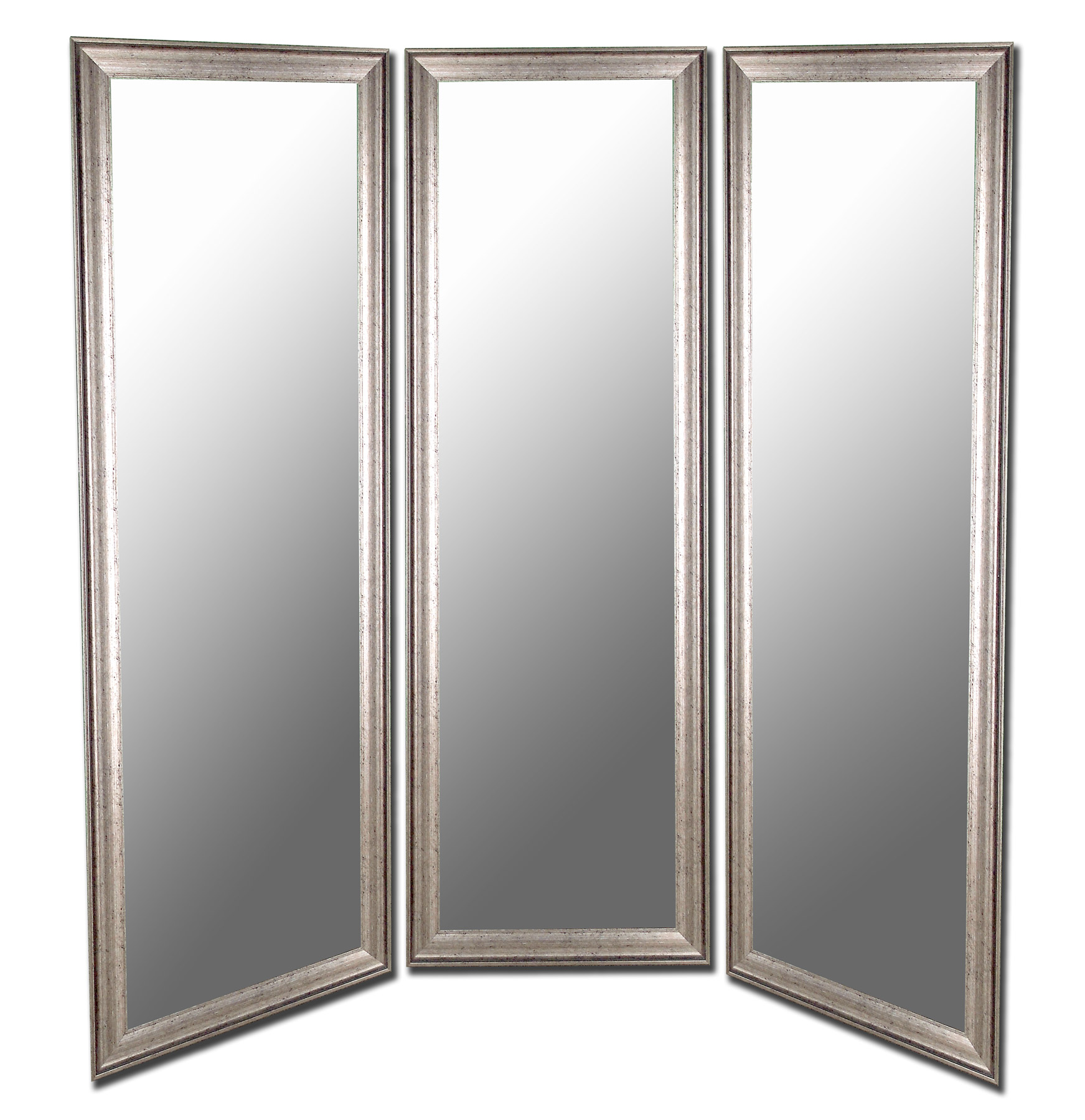Hitch Erfield 6708 Pmrd Distressed Silver Black Trim 3 Panel Mirror