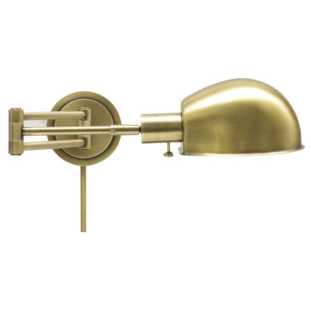 House of Troy AD425-AB Addison Swing Arm Wall Lamp