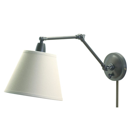 house of troy pl20 ob swing arm library wall lamp. Black Bedroom Furniture Sets. Home Design Ideas