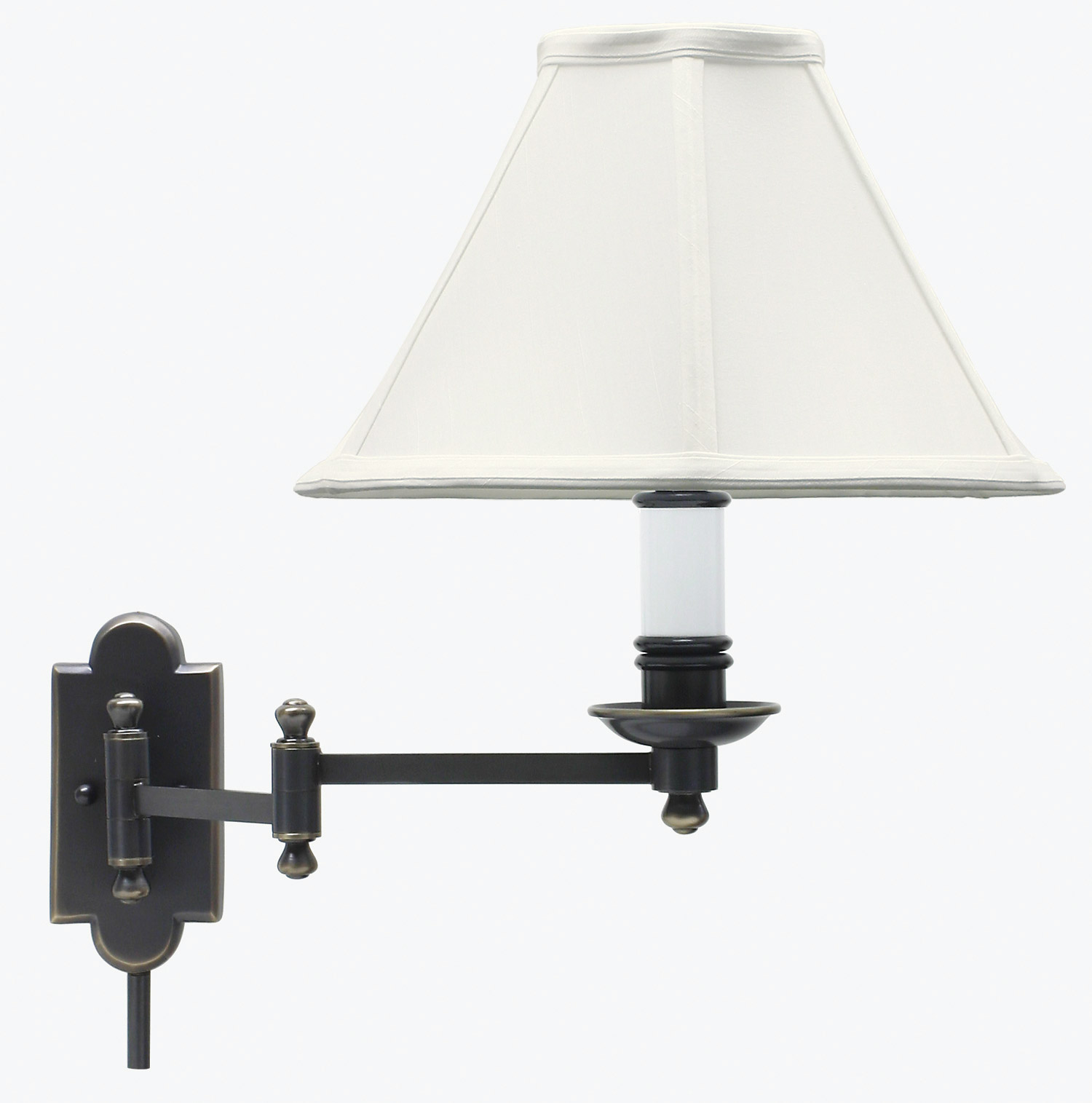 house of troy cl225 ob club swing arm wall lamp. Black Bedroom Furniture Sets. Home Design Ideas