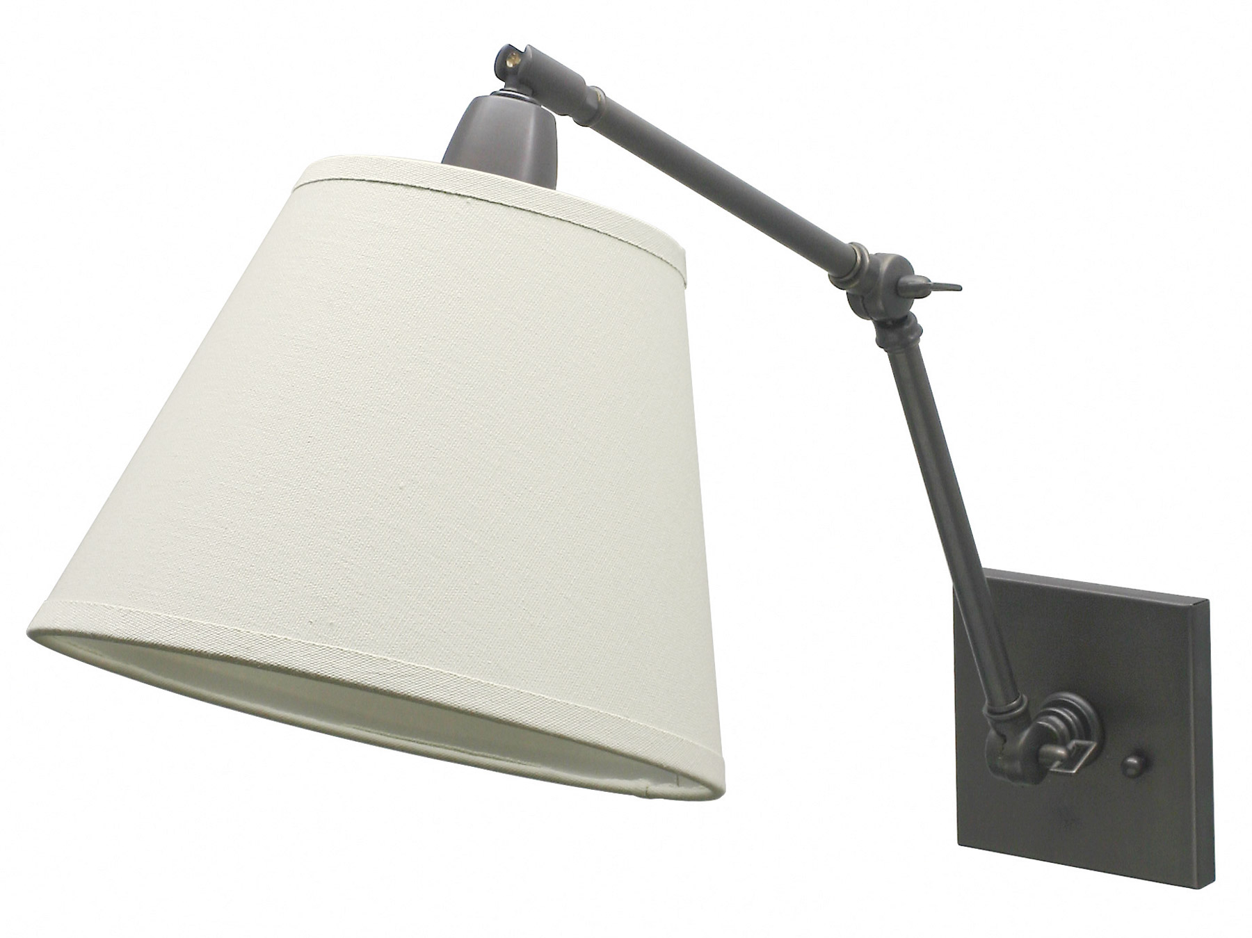House Of Troy Dl20 Ob Direct Wire Swing Arm Library Wall Lamp
