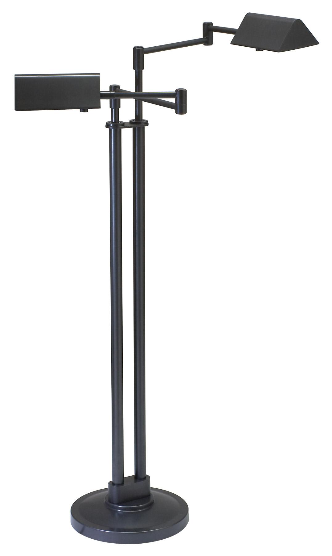 House Of Troy Pin400 2 Ob Pinnacle Double Swing Arm Floor Lamp