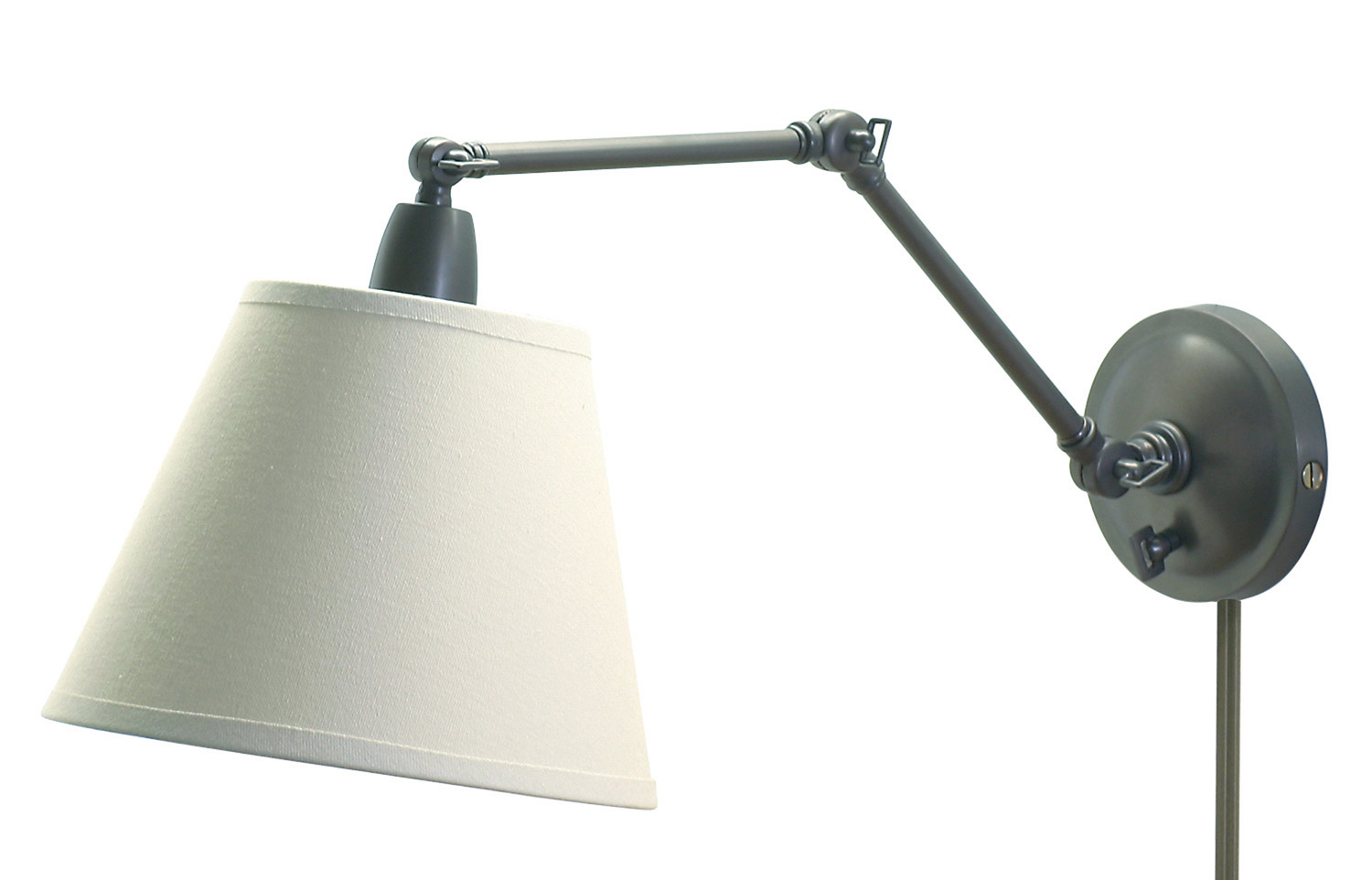 Elegant House Of Troy PL20 OB Swing Arm Library Wall Lamp
