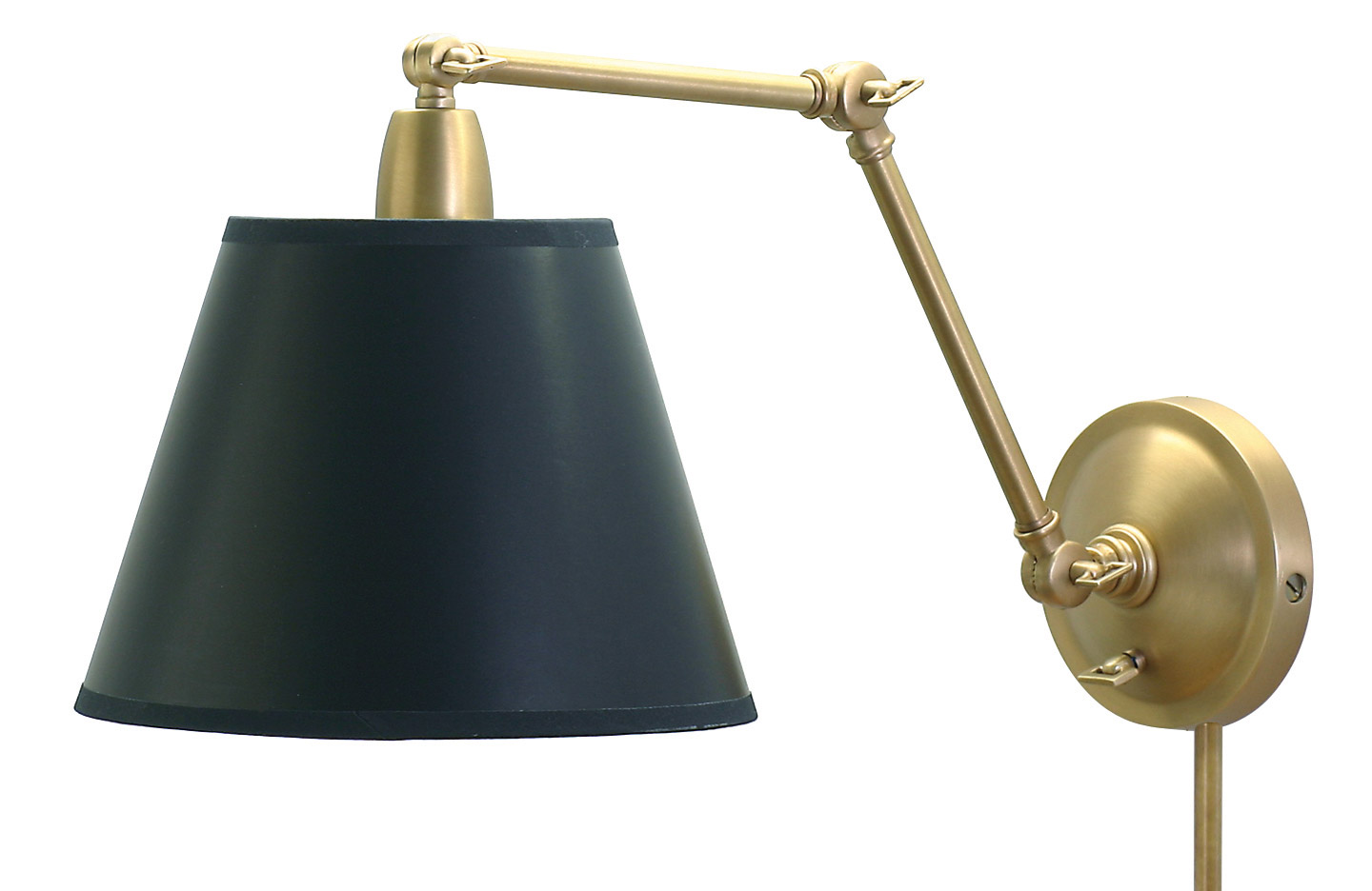 House Of Troy Pl20 Wb Swing Arm Library Wall Lamp