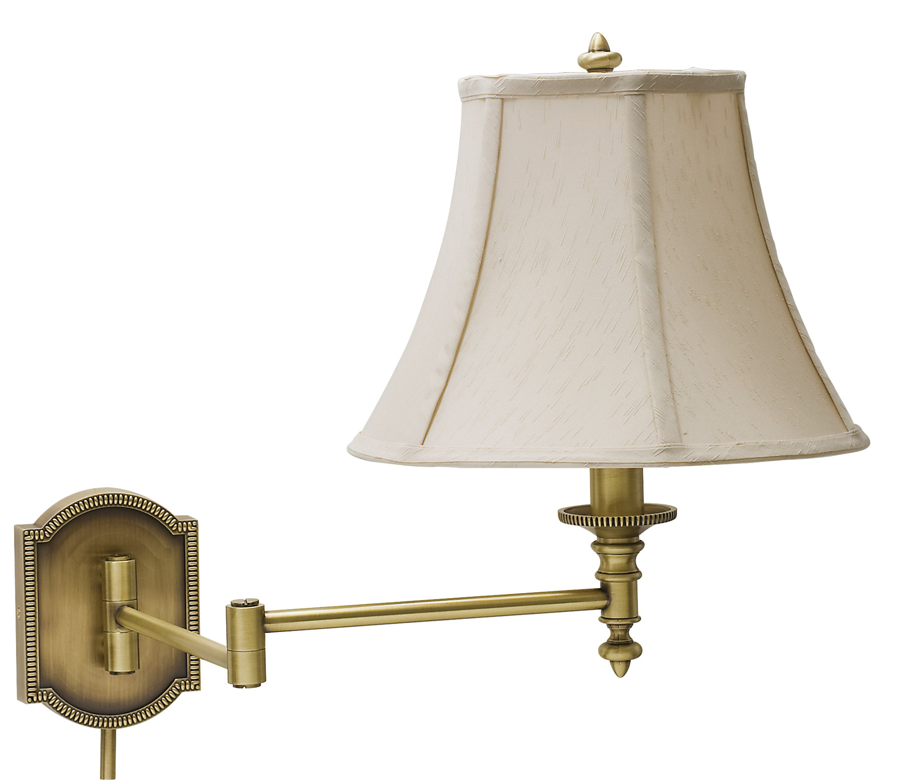 house of troy ws761 ab bead swing arm wall lamp. Black Bedroom Furniture Sets. Home Design Ideas