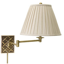 House of Troy WS760-AB Basket Swing Arm Wall Lamp
