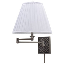 House of Troy WS760-AS Basket Swing Arm Wall Lamp