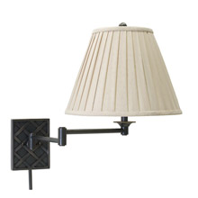 House of Troy WS760-OB Basket Swing Arm Wall Lamp