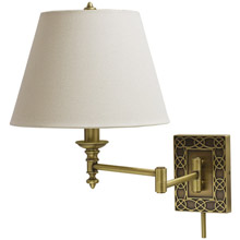 House of Troy WS763-AB Knot Swing Arm Wall Lamp