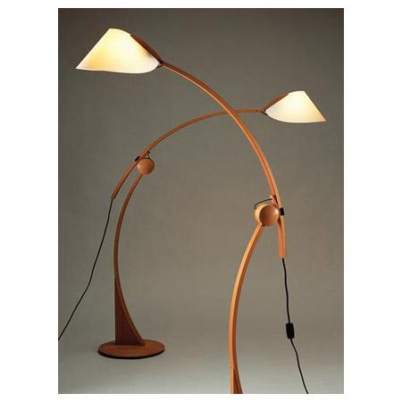 Asian Floor Lamps: Justice Design DOM-8003 Domus Apollo Beech Floor Lamp,Lighting