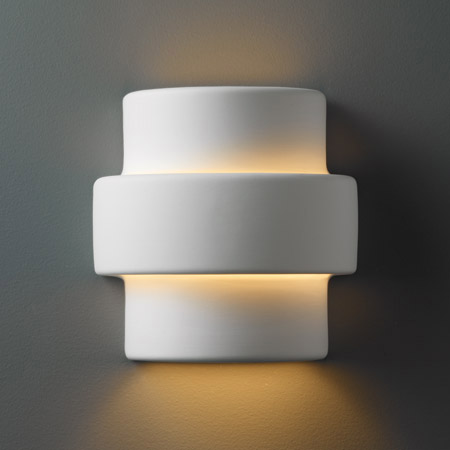 Justice Design CER-2205-BIS BIS Ambiance Small Step Wall Sconce