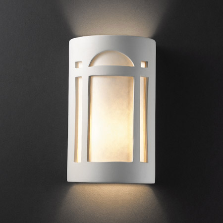 Justice Design CER-7385-BIS Ambiance Small Arch Window Wall Sconce