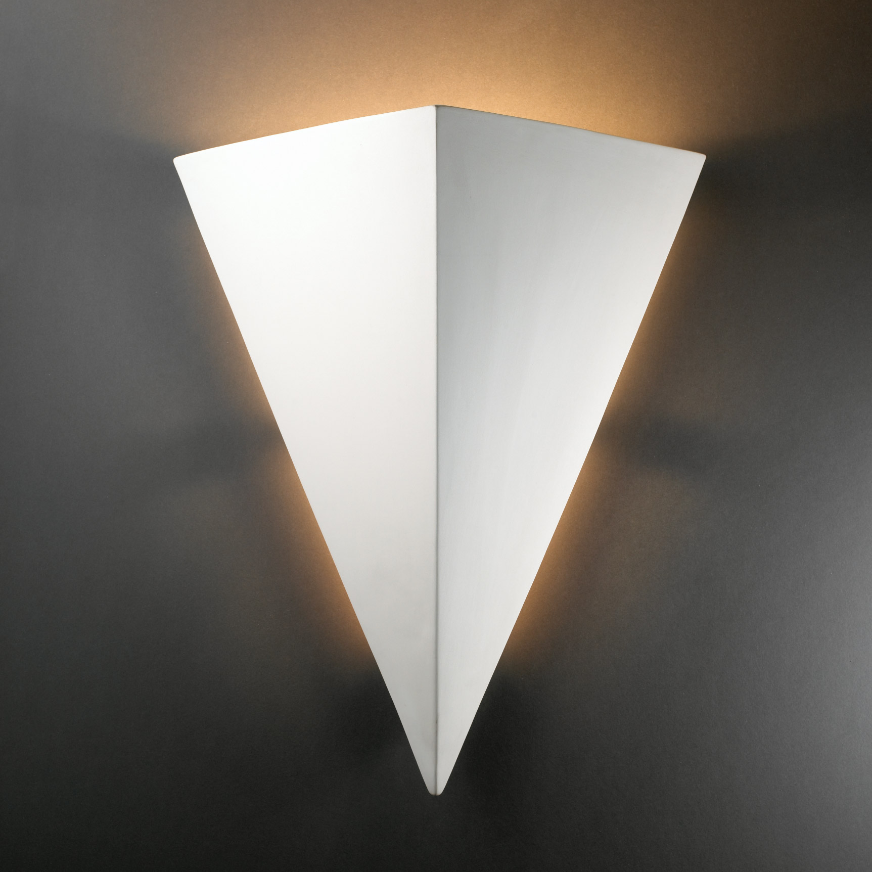 Justice Design CER-1140-BIS Ambiance Really Big Triangle Wall Sconce