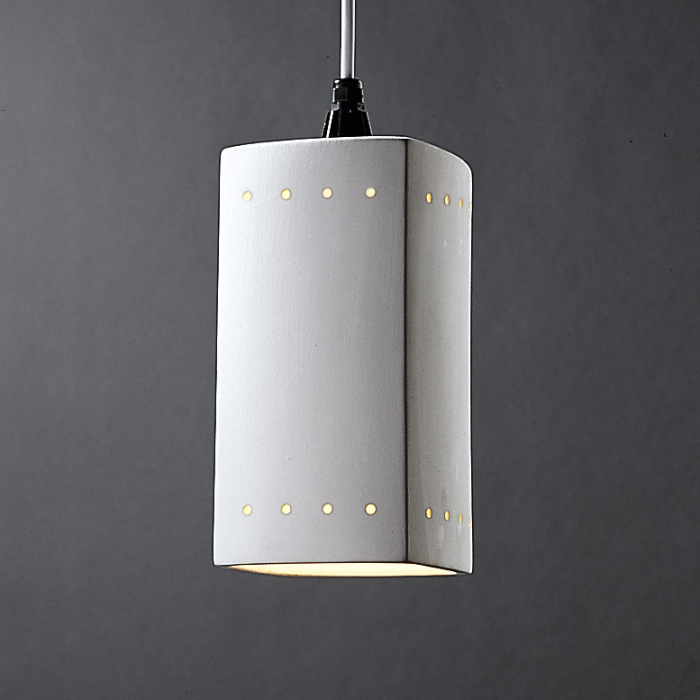 Justice Design Cer 6215 Bis Wtcd Radiance Rectangle Mini Pendant With Perforations